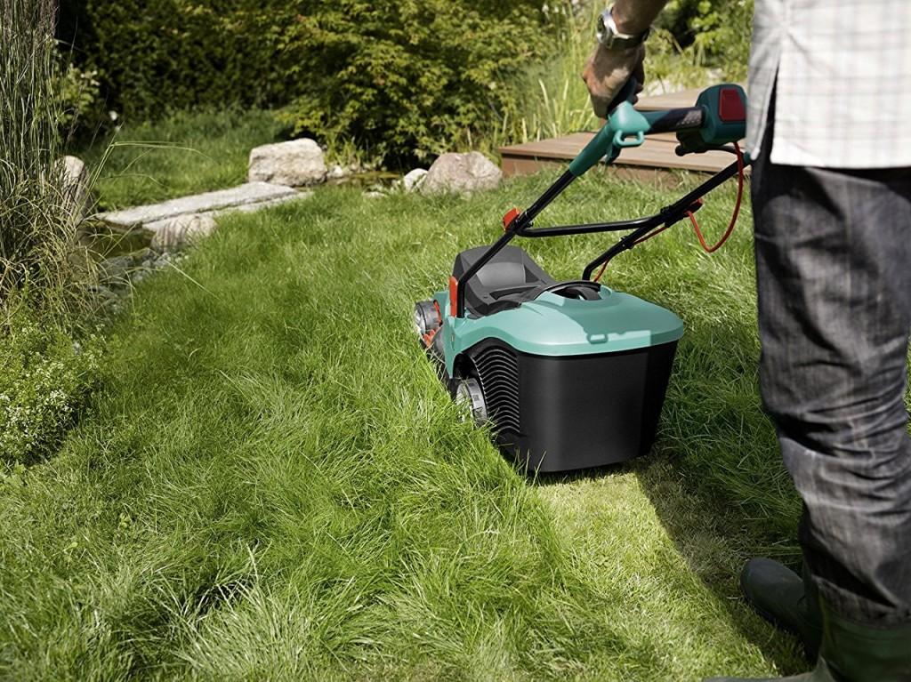 Tondeuse écologique pour grand gazon épais Bosch Rotak 43 avantage inconvénient