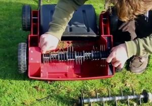 Comment changer rouleau aérateur Einhell RG-SA 1433