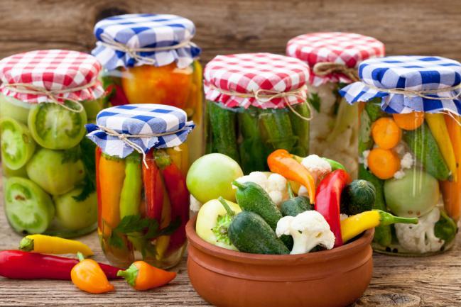 Bocaux de conservation de légumes