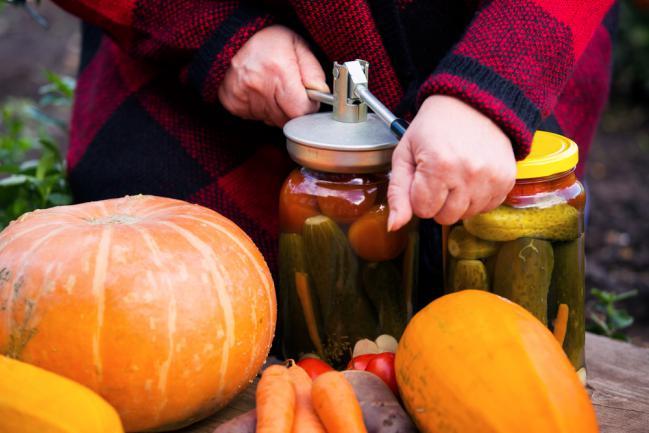 Comment conserver légumes récoltées dans des bocaux