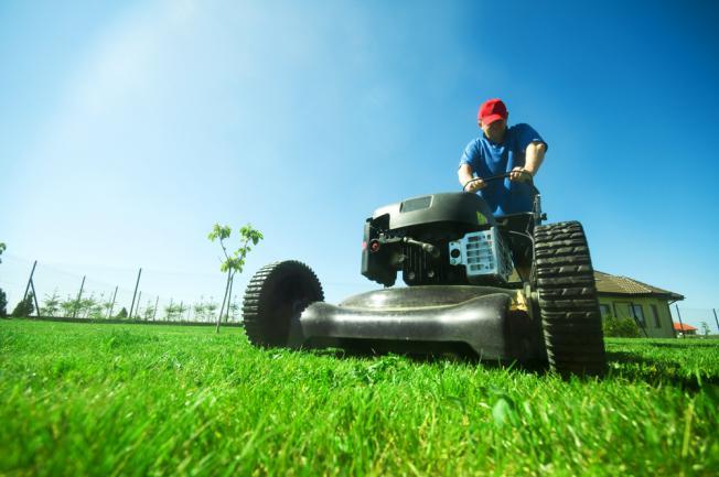 Gros engin pour tailler une grande pelouse