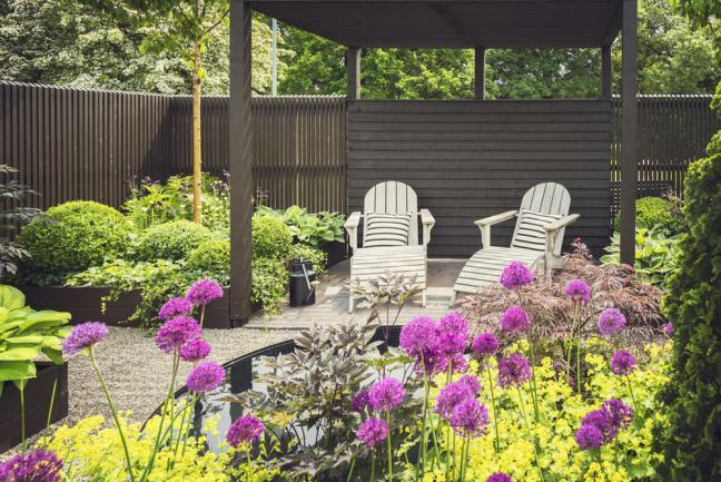 Exemple de design cosy arrière-cour