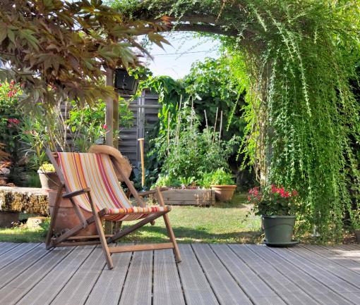 Optimisation d'un petit jardin - plantes grimpantes