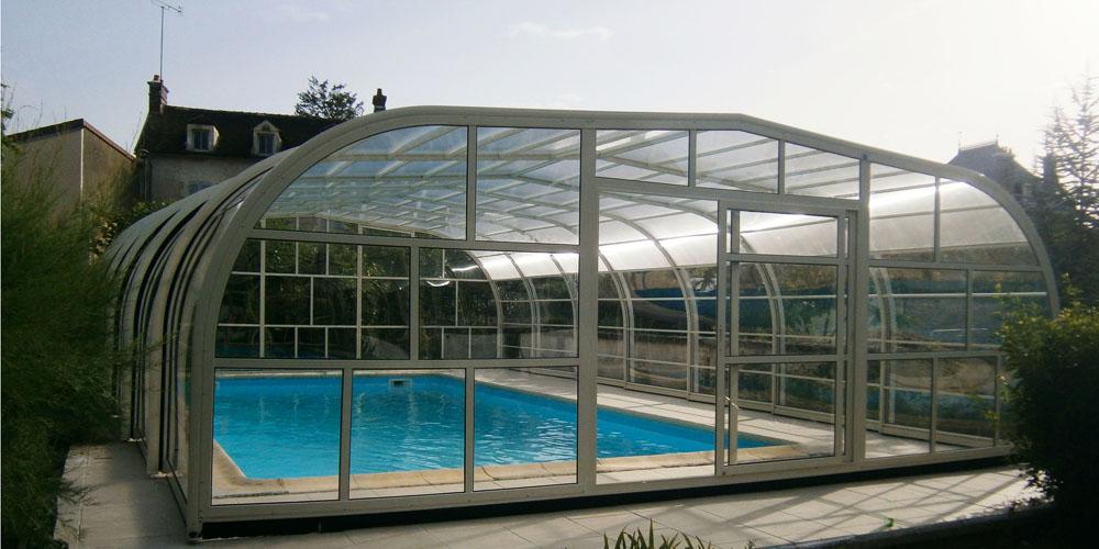 Abri piscine haut Elite de chez Aladdin